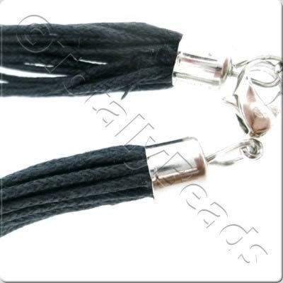 Black Necklace Cord - Multi String