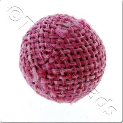 Weaved Hatch Bead - Fuschia