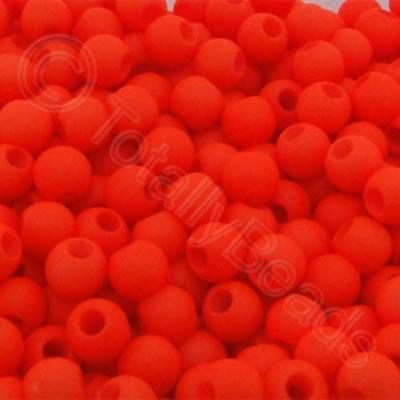 Acrylic Beads 6x5mm - Neon Orange