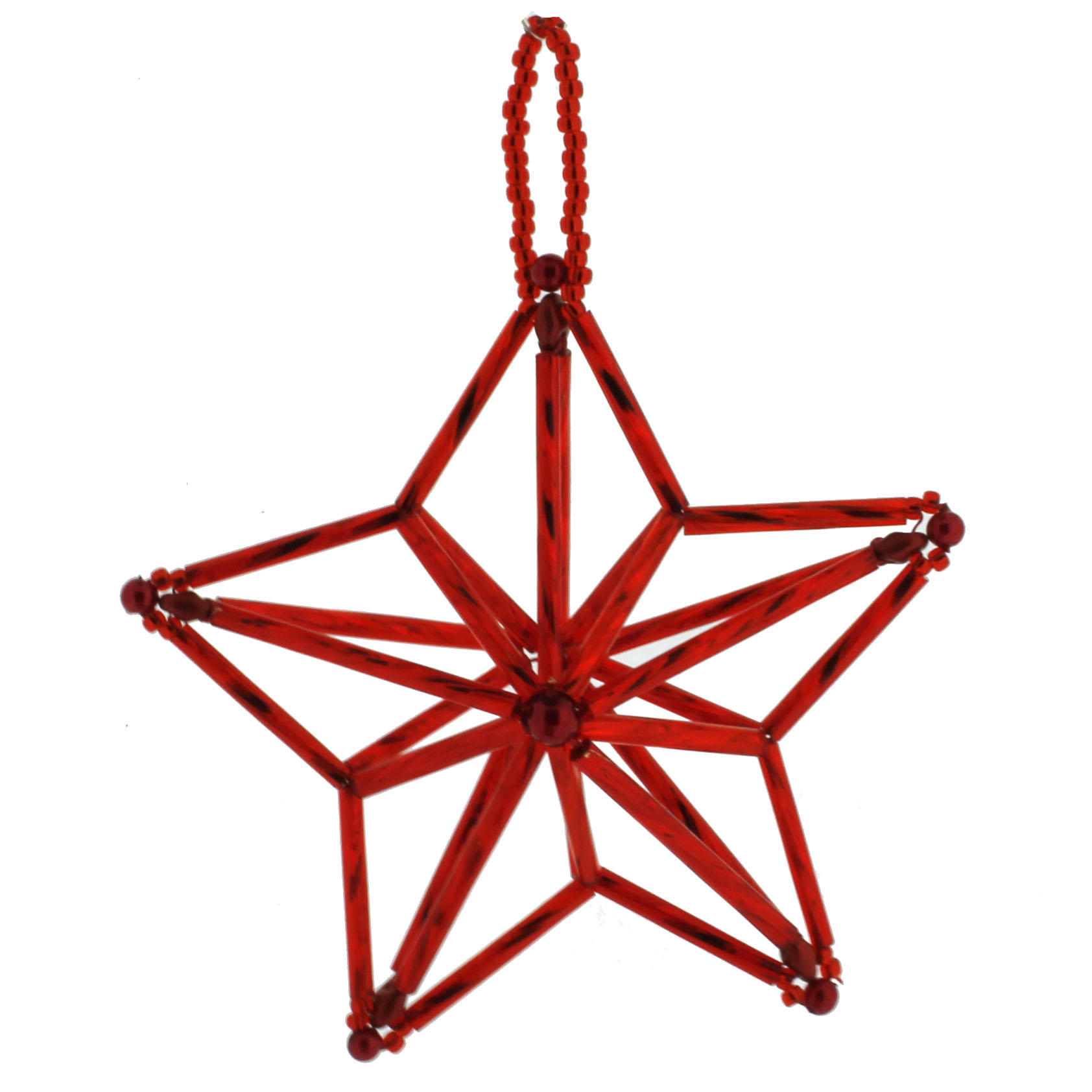 how to make a christmas star with beads