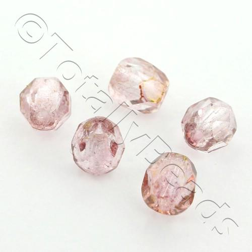 Czech Fire Polished 4mm Faceted - Transparent Topaz - 100pcs