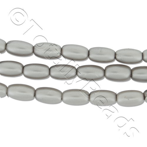 Glass Pearl Rice - Silver Grey