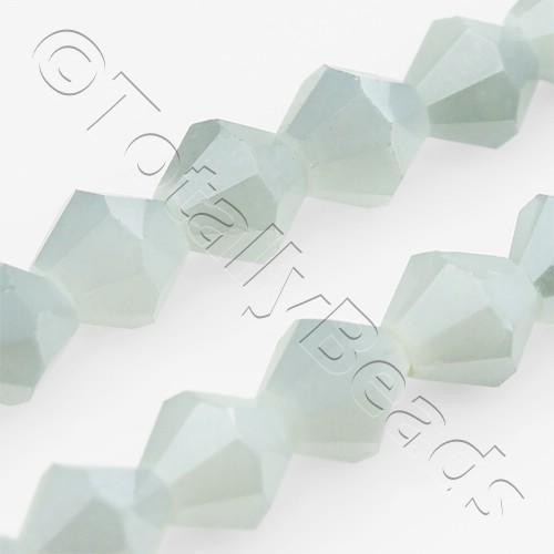 Crystal Bicone 6mm - Grey Shadow