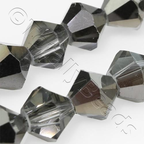 Crystal Bicone 8mm - Black Shadow