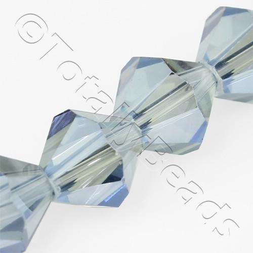 Crystal Bicone 10mm - Blue Mist 30pcs
