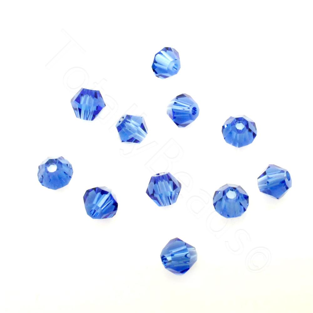 Capri Blue 4mm 100pcs