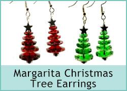 Margarita Christmas Tree Earrings