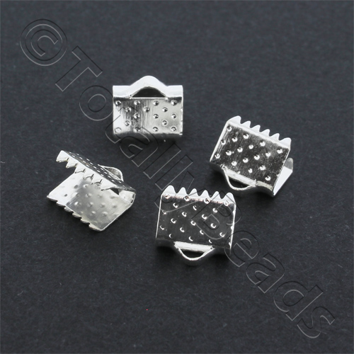 Crimp Connector 8mm - Silver Plated