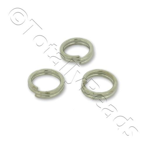Split Rings 6mm - Rhodium Plated