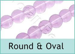 Glass Round n Oval Beads