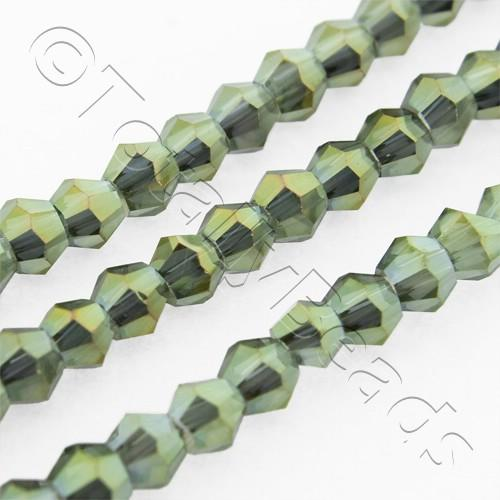 Crystal Bicone 2.5mm - Olive Garden