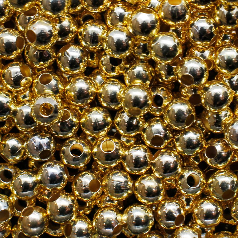 Spacer Beads - Gold Plated - 4mm