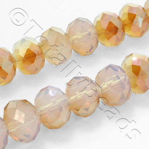 Crystal Rondelle 8x10mm - Orange Oyster