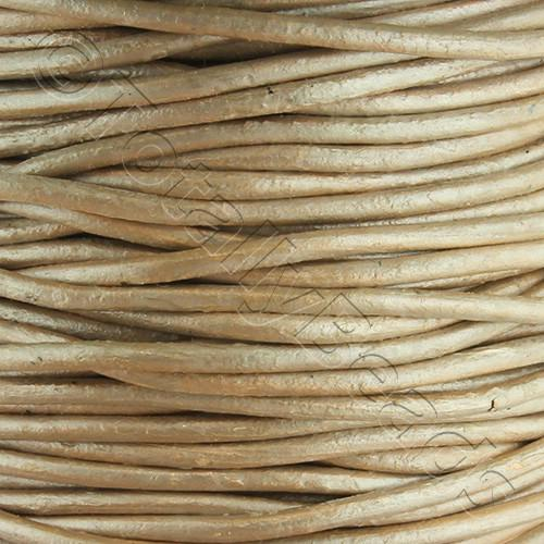 Leather Cord 1.5mm - Beige 1m length