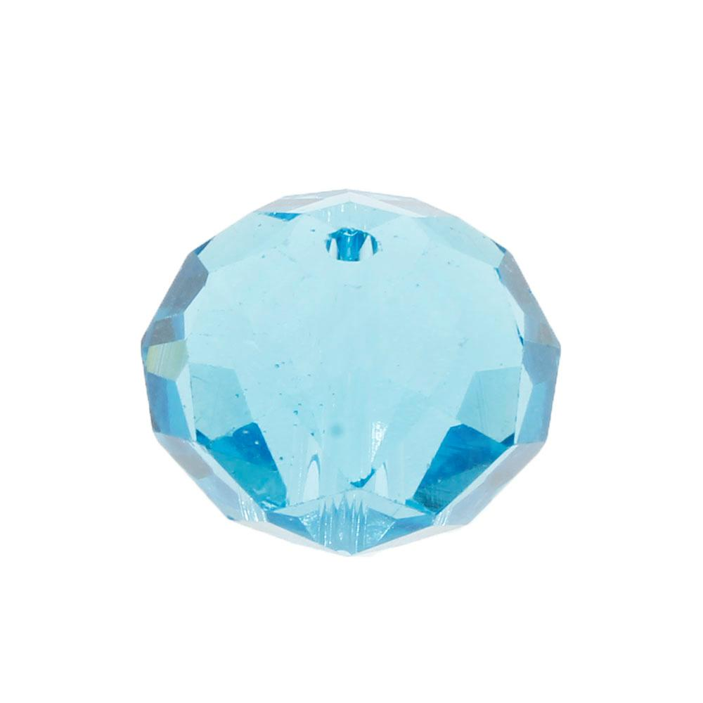 Crystal Rondelle 14x18mm - Aqua 1pc