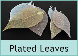Electroplated Leaves