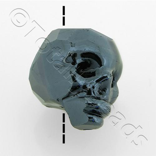 Crystal Skull Bead 13mm 1 Piece - Hematite