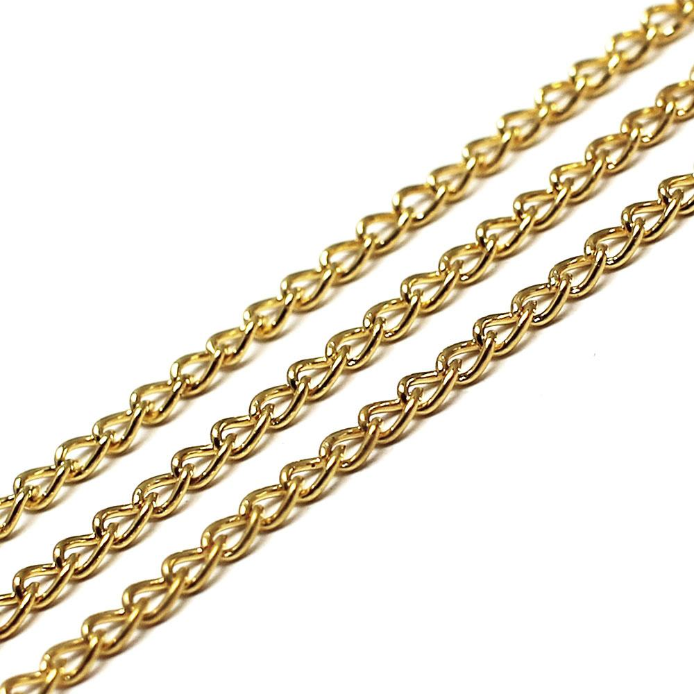 Chain Gold Plated - Oval Curb 3.2x2.3mm