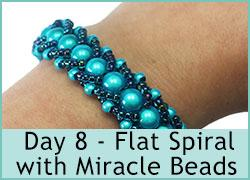 Day 8 - Flat Spiral with Miracle beads