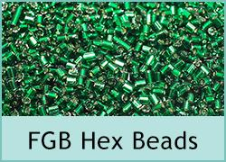 FGB Size 11 Hex Beads