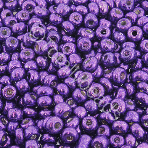 Seed Beads Metallic  Purple - Size 6