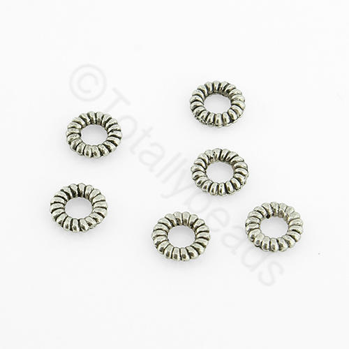 Antique Silver Spacer Ring - 5mm 80pcs