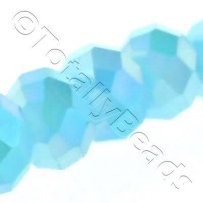 Crystal Rondelle 10x14mm - Baby Blue AB