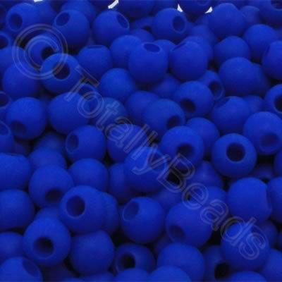 Acrylic Beads 6x5mm - Navy Blue