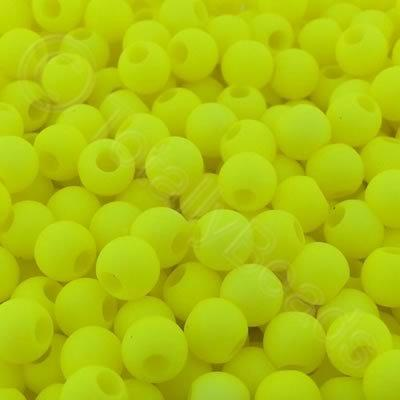 Acrylic Beads 6x5mm - Neon Yellow