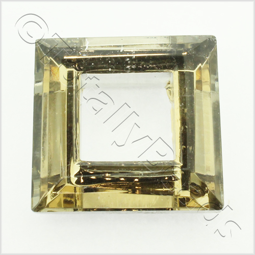 Glass Pendant Square 30mm - Coffee