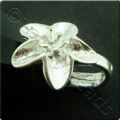 Silver Flower Bail - 12mm