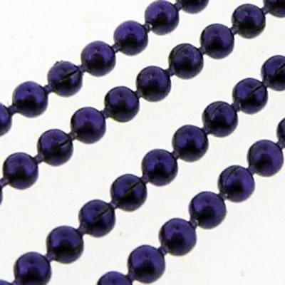 Ball Chain 1.5mm - Metallic Dakr Purple - 1m