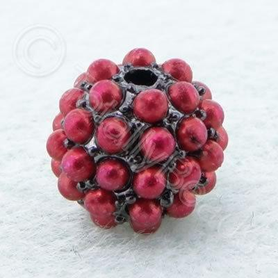 BeadyBall Bead - Black and Red