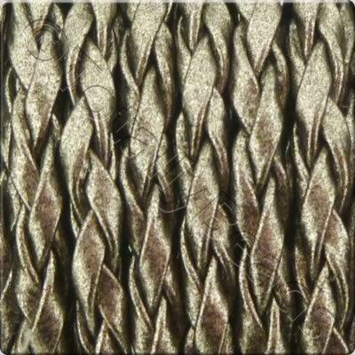 Braided Poly Cord Antique Silver - 3mm - 5m Spool