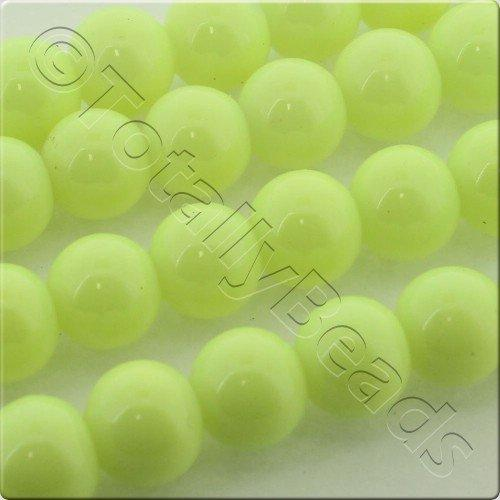 Glass Bead Round 8mm - Neon Yellow