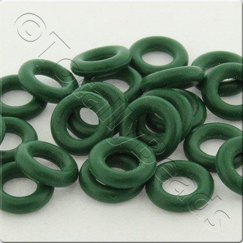 rubber o ring 8mm green 25pcs craft hobby jewellery