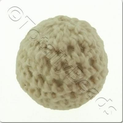 Crochet Bead 22mm - Ivory