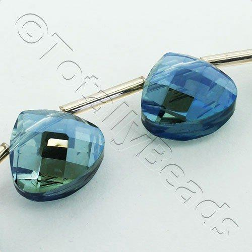 Crystal Flat Drop 13mm - Electric Blue