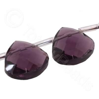 Crystal Flat Drop 10mm - Purple