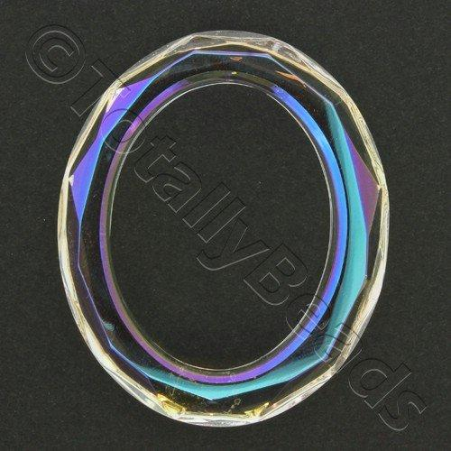 Crystal Pendant Oval Ring 60mm - Crystal AB