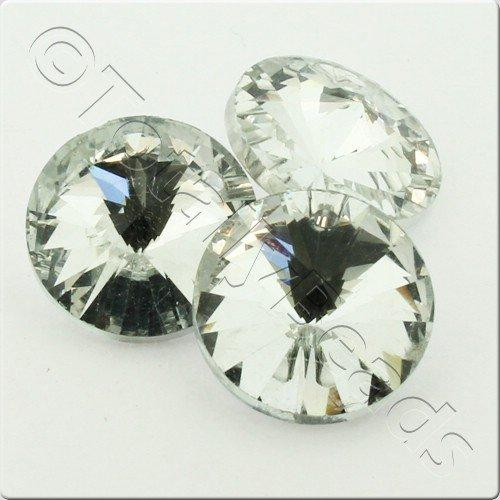 Crystal Rivoli - 16mm Silver