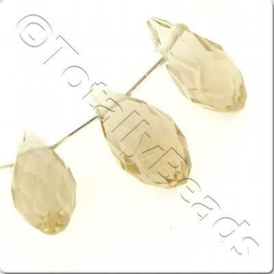 Crystal Drop Top Drilled 6x12mm - Champagne