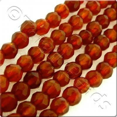 Red Agate 3mm Facet Round