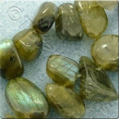 "Gemstone Top Nugget - Labradorite - 16"" String"