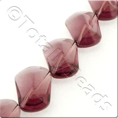 Glass Nugget - 16x12mm - Amethyst - 18pcs