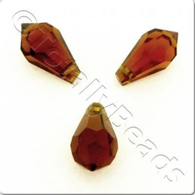 Faceted Teardrops 14x7mm