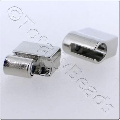Magnetic Clasp - Sliding Square 20mm - Rhodium