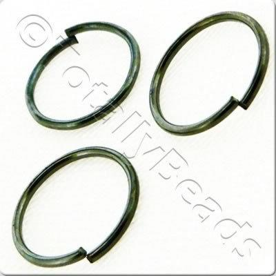 Jump Rings 12x1.2mm - Black Plated