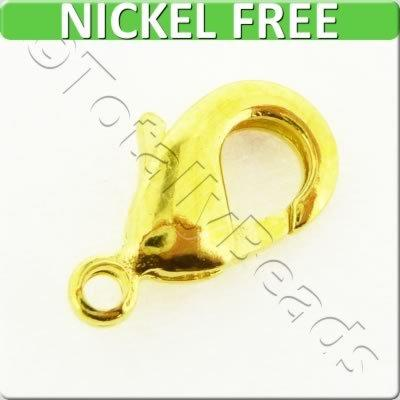 Lobster Clasp 12mm - Gold Plated - 10 Pieces