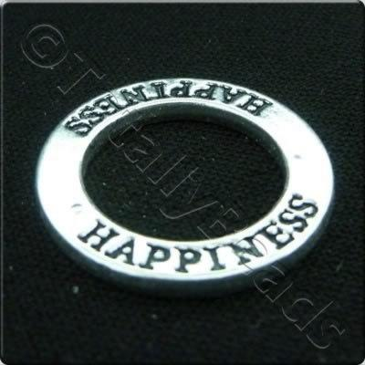 Tibetan Silver Message Ring - Happiness